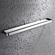 HPB®,Barre porte-serviette Chrome Fixation Murale 60*7.6cm(23.6*3 inch) Laiton Contemporain