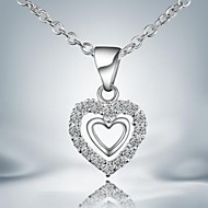 European Simple Silver Plated Alloy Pendant Necklace(1pc)