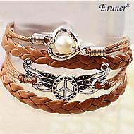 eruner®women Friedensflügel Perle geflochtenes Armband inspirierend Armbänder Schmuck