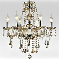 6-světlo styl palác skleněné lustry se svíčkou žárovkou