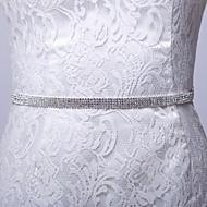 Satin/Satin/ Tulle Wedding/Party/ Evening/Dailywear Sash - Rhinestone Women's Sashes