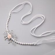 Women's/Flower Girl's Imitation Pearl/Cubic Zirconia/Chiffon Headpiece - Wedding/Special Occasion Headbands/Flowers/Hair Tie/Head Chain