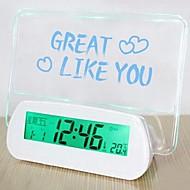 Creative Message Board Fluorescent Acoustic Speaking Alarm Clock