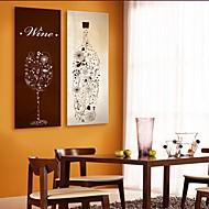 e-Home® venytetty kankaalle art pullot ja lasit sisustusmaalaus sarja 2