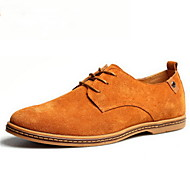 Men's Spring Summer Fall Winter Comfort Leather Suede Casual Flat Heel Lace-up
