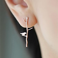 Women's European and American Branches Bird Earrings