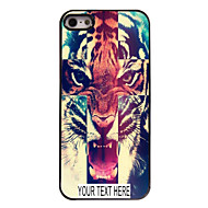 personalisierte Fall Tigermuster Metallkasten für iphone 5/5 s