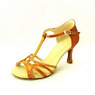 Customized Women's Satin T-Strap Latin / Ballroom Dance Performance Shoes (More Colors)