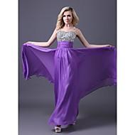 Formal Evening Dress - Lilac / Royal Blue / Pool / Ruby / White Plus Sizes / Petite A-line Sweetheart Floor-length Chiffon