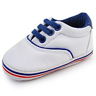 Boy's Flats Spring / Fall / Winter First Walkers / Crib Shoes Twill Outdoor Flat Heel Lace-up White