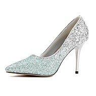 Women's Shoes Pointed Toe Stiletto Heel Pumps with Sequin Wedding Shoes More Colors available