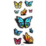 מדבקות קעקועים - תבנית/Waterproof - נשים/Girl/מבוגר/נוער - מרובה צבעים - נייר - #(5) - #(24cm*9.5cm) - דפוס