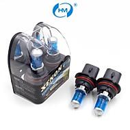 hm® plasma xenon 9007 12v 100 / 80w lâmpada halógena de farol lâmpadas brancas (um par)