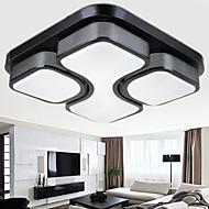 24w hierro negro luz de techo de arte dirigido