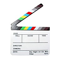 film / filmregisseur's acryl filmklapper leisteen - wit + zwart