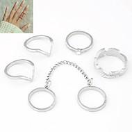 טבעות יומי תכשיטים סגסוגת נשים טבעות מידי8 מוזהב / כסף