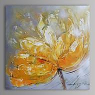 peinture à l'huile fleur abstraite moderne main toile avec cadre étiré peint
