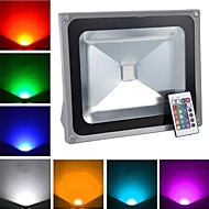 Grey Waterproof 50W 4900LM RGB Light Remote Controlled LED Flood Lamp (AC85V-265V)