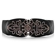 Women's  Special Pattern Metal Wide Belt