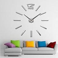 "40"" H Giant DIY 3D Mirror Acrylic Surface Sticker Wall Clocks For Bedroom Livingroom"