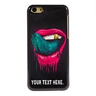 gepersonaliseerd geval de lip en de tong ontwerp metalen behuizing voor de iPhone 5c