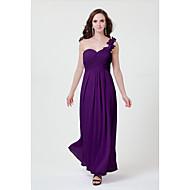 Robe de Demoiselle d'Honneur -Jonquille / Rose Claire / Fuchsia / Couleur Rubis / Pourpre / Blanc / Argent / Noir Fourreau / ColonneUne