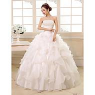 Ball Gown Floor-length Wedding Dress -Strapless Organza
