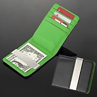 gift groomsman huwelijkscadeau gepersonaliseerde graveerbare leatheroid groen zwart zilver portemonnee geld clip