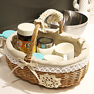 Snow Pattern Cloth-pasting Easter Basket