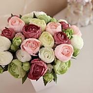 "8.27"" Hand-made Silk Artificial Tea Rose Wedding Bridal Bouquet(More Colors)"