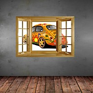 3D Wall Stickers Wall Decals, Original Painting Cool Cars Decor Vinyl Wall Stickers
