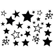 2pcs Yimei adesivos tatuagem impermeável mulheres série animal / girl / homens / adulto / jovem / adolescente estrelas negras padrão de 17 centímetros