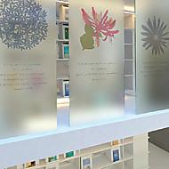 "80 * 80cm(31""W * 31""L)Static Plastic Film Frosted Glass Film Window Grilles - Petal"