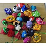 שקית קניות פירות פרח דוגמנות בעלי החיים קיפול (סוג אקראי)