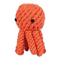 Kutyák Játékok kisállatoknak Rágójátékok Kötél / Polip Narancssárga Textil
