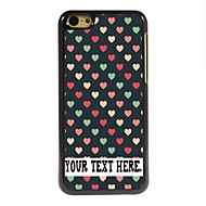 Personalized Case Lovely Heart Design Metal Case for iPhone 5C