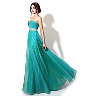 A-line Sweetheart Floor-length Evening Dress