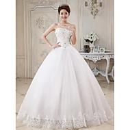 Ball Gown Sweetheart Lace Floor-length Wedding Dress