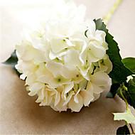 Six White Hygrangeas Artifical Flowers