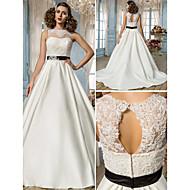Lanting Bride® Trapèze Princesse Petites Tailles Grandes Tailles Robe de Mariage - Classique & Intemporel Elégant & Luxueux Dos ouvert