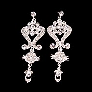 Big Rhinestones Long Vintage Dangle Brides Bridesmaids Wedding Party Earring