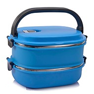 NEJE 2-Layer Stainless Steel Insulated Box Lunchbox with Handle