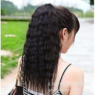 szép lány divat jó minőségű kukorica forró hosszú lófarok