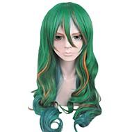angelaicos unisex pitkä aaltoileva vihreä korostetaan halloween puku osapuoli cosplay peruukki yowamushi poljin Yusuke Makishima