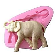 3d silicone animale gâteau fondant au moule décoration moule en silicone éléphant moules à gâteaux saop de sucre dans le chocolat