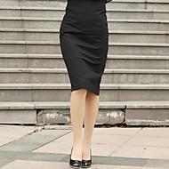 annata bodycon anelastici gonne medie ginocchio delle donne (miscele cotone)