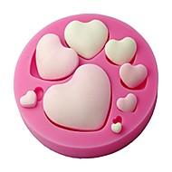 molde fondant coração forma silicone, molde de artesanato, molde do bolo decorativo