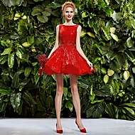 Homecoming Princess Collar Knee-length Wedding Dress (Lace)/Party Dress/Daily Dress More Colors
