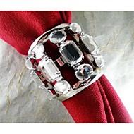 anneau de cristal de serviette, le fer, 1.77inch, set de 12