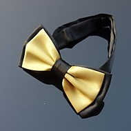 XINCLUBNA® Men's Gold & Black Bowtie with Adjustable Band (1pc)